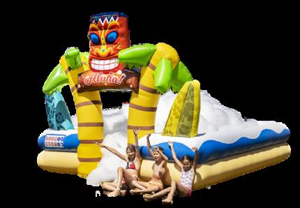 Opblaasbaar bubble park in Hawaï thema kopen voor kinderen