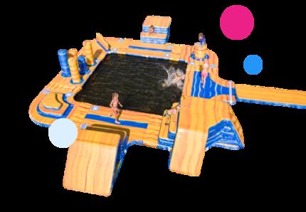 Opblaasbare Waterspelen kopen voor binnen en buiten water van JB Waterplay. Opblaasbare spellen voor zwembad en natuurwater van JB Inflatables