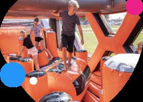 Giga modulaire stormbaan - attracties en spelen