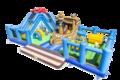 Acquistare un parco gioco gonfiabile completo con ostacoli e scivolo con il tema mondo mare