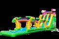 Opblaasbare waterglijbaan met zwembadje kopen in thema flamingo drop and slide voor kinderen