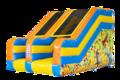 Opblaasbare glijbaan in thema party kopen voor kinderen