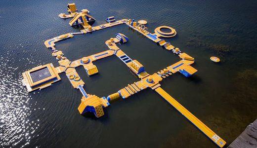 Opblaasbare Waterpark kopen voor binnen en buiten water van JB Waterplay. Opblaasbare spellen voor zwembad en natuurwater van JB Inflatables