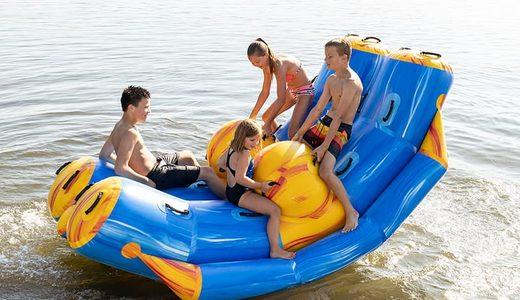 Opblaasbaar Waterpark kopen voor binnen en buiten water van JB Waterplay. Opblaasbare spellen voor zwembad en natuurwater van JB Inflatables