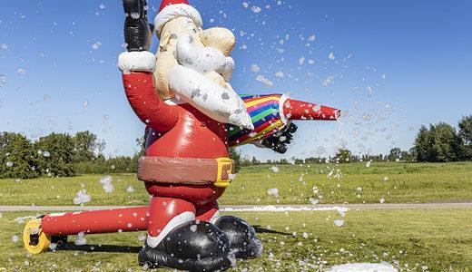 Opblaasbare schuim bubble kerstman kopen