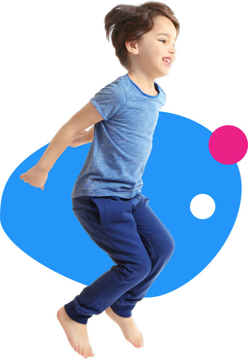 Springend jongetje