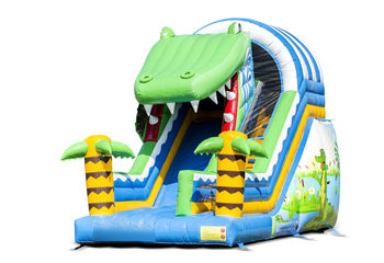 Opblaasbare glijbaan krokodil