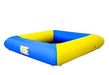 Opblaasbare open ballenbak springkussen te koop in thema standaard blauw geel voor kids