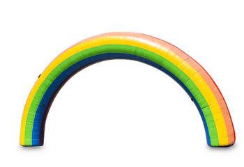Start & Finishboog 15x8m in regenboog kleur online kopen bij JB Inflatables Nederland. Bestel nu standaard opblaasbare bogen voor sport evenementen