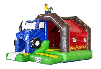 Opblaasbaar slide combo springkussen in boerderij thema kopen voor kinderen. Bestel springkussens bij JB Inflatables Nederland