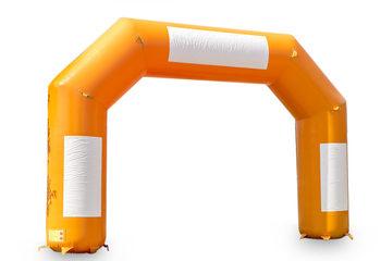 Oranje finish boog online kopen bij JB Inflatables Nederland. Bestel nu standaard opblaasbare bogen voor sport evenementen