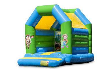 Midi springkussen kopen in boerderij thema voor kinderen. Bestel springkussens online bij JB Inflatables Nederland