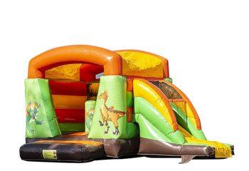 Klein overdekt multifun springkussen kopen in thema dino voor kinderen. Bestel springkussens online bij JB Inflatables Nederland