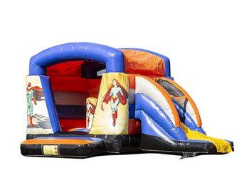 Klein overdekt multifun springkasteel kopen in thema superhelden voor kinderen. Bestel springkastelen online bij JB Inflatables Nederland