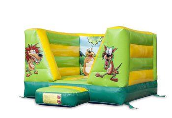 Klein open springkussen kopen in het thema jungle voor kinderen. Bestel springkussens online bij JB Inflatables Nederland