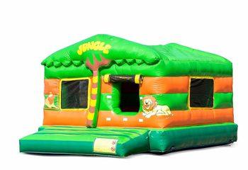 Opblaasbare play fun overdekt ballenbak springkussen kopen in thema jungle oerwoud voor kinderen. Bestel springkussens online bij JB Inflatables Nederland