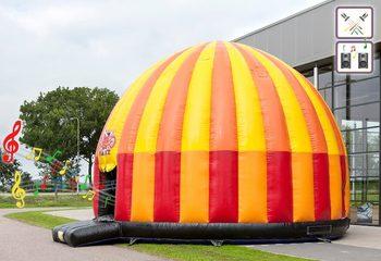 Groot opblaasbaar overdekt disco springkasteel van 7 meter kopen voor kinderen