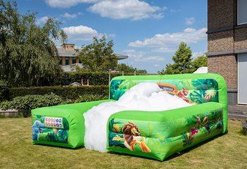 Opblaasbare schuim bubble boarding in jungle thema kopen voor kinderen