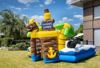 Opblaasbare schuim bubble park in thema piraat te koop voor kids