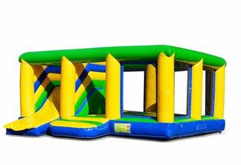 Groot opblaasbaar open multiplay indoor standaard springkussen met glijbaan kopen voor kinderen. Bestel springkussens online bij JB Inflatables Nederland
