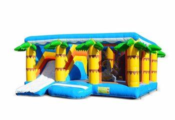 Groot opblaasbaar multiplay springkussen met glijbaan kopen in thema beach strand voor kinderen. Bestel springkussens online bij JB Inflatables Nederland