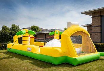 Groot opblaasbaar open bubble boarding springkasteel met schuim te koop in thema sport basketbal voetbal voor kids