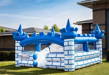 Opblaasbaar open bubble boarding park springkussen met schuim te koop in thema ridder kasteel knight castle voor kinderen