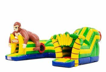 Opblaasbaar play fun kruiptunnel springkussen kopen in thema gorilla voor kinderen. Bestel springkussens online bij JB Inflatables Nederland