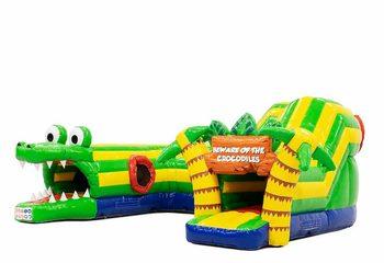 Opblaasbaar overdekt play fun springkussen kruiptunnel kopen kruipen in thema krokodil voor kinderen. Bestel springkussens online bij JB Inflatables Nederland