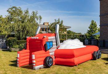 Inflatable schuim bubble park in thema truck kopen voor kinderen