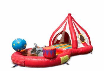 Opblaasbaar halfopen play fun springkussen kopen in thema playzone circus voor kinderen. Bestel springkussens online bij JB Inflatables Nederland