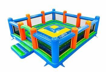 Groot opblaasbaar open standaard speelberg springkussen met wanden kopen voor kinderen. Bestel springkussen online bij JB Inflatables Nederland