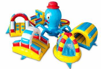 Opblaasbaar play fun speeleiland springkussen kopen in thema octopus spelen voor kinderen. Bestel springkussens online bij JB Inflatables Nederland