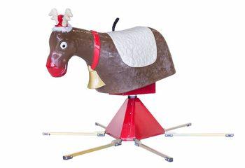 Eland als opzetstuk voor rodeo kopen op inflatable opblaasbaar springkussen met actie spel voor kerst