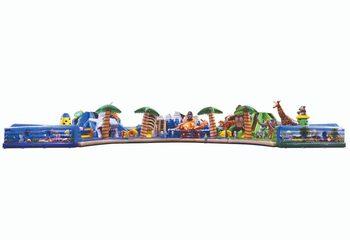 Grootste opblaasbaar springkussen van Europa kopen in thema jungle, dieren en seaworld met glijbaan en klimtoren voor kinderen. Bestel springkussens online bij JB Inflatables Nederland