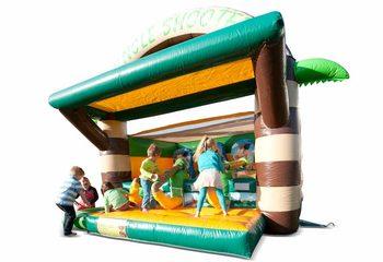 Bestel Schiettent Jungle springkussen met kanon spel voor kinderen. Koop springkussens online bij JB Inflatables Nederland