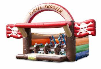 Koop Schiettent piraat springkussen  met kanon spel voor kinderen. Bestel springkussens online bij JB Inflatables Nederland