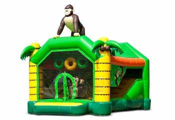Bestel shooting combo small jungle springkussen met schiet spel en glijbaan voor kinderen. Koop springkussens online bij JB Inflatables Nederland