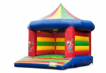 Standaard carrousel springkussen kopen in circus thema voor kinderen. Koop springkussens online bij JB Inflatables Nederland
