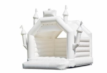Standaard springkussen kopen in trouw thema in de vorm van een kasteel voor kinderen. Koop springkussens online bij JB Inflatables Nederland