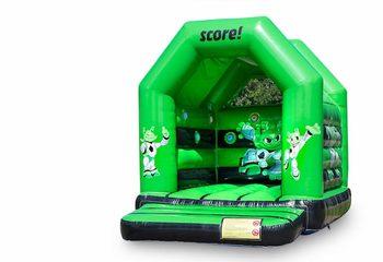 Midi overdekt springkussen kopen in een kleuren combinatie van groen en zwart en in het thema interactief IPS voor kinderen. Bestel springkussens online bij JB Inflatables Nederland