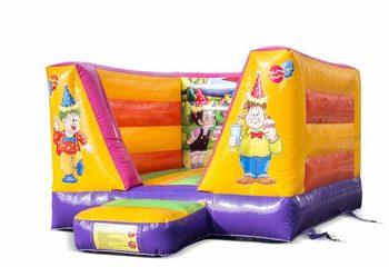 Klein open springkussen bestellen in feest thema voor kinderen. Koop springkussens online bij JB Inflatables Nederland
