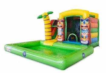 Multifunctioneel mini splash bounce Hawaï springkussen kopen bij JB Inflatables Nederland. Bestel springkussens online bij JB Inflatables Nederland