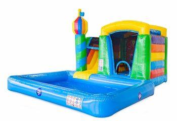 Koop opblaasbaar mini splash bounce springkussen met zwembadje in thema party feest voor kinderen bij JB Inflatables Nederland. Bestel springkussens online bij JB Inflatables Nederland