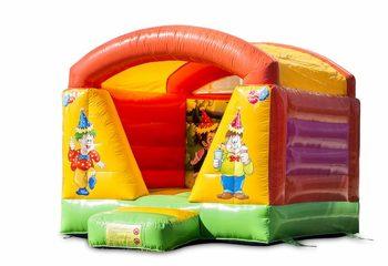 Klein overdekt springkussen in feest thema voor kinderen te koop. Bestel nu springkussens online bij JB Inflatables Nederland