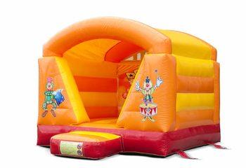 Klein overdekt springkussen kopen in circus thema  voor kinderen. Bestel springkussens online bij JB Inflatables Nederland