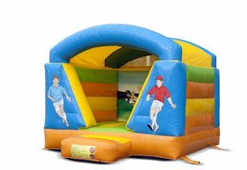 Klein overdekt springkussen in voetbal thema voor kinderen te koop. Bestel springkussens online bij JB Inflatables Nederland