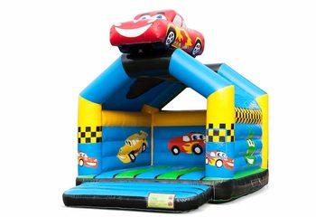 Koop uniek standaard springkussen met een 3D object van een auto aan de bovenkant voor kinderen. Koop springkussens online bij JB Inflatables Nederland