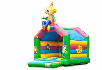 Standaard feest springkussens kopen in opvallende kleuren met bovenop een groot 3D object voor kinderen. Bestel springkussens online bij JB Inflatables Nederland