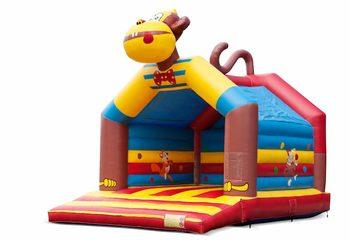 Groot overdekt springkussen kopen in thema aap voor kinderen. Bestel springkussens online bij JB Inflatables Nederland